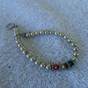 Vintage Silver beaded bracelet